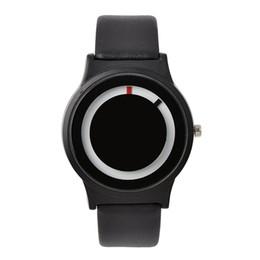 Wholesale Unique Couplings - Wholesale-Stylish Lover's PU Leather Strap Round Quartz Watch Luminous Unique Design Casual Wrist Watch Couples Gift