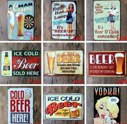 Canada Bienvenue bière bar rétro en métal peinture Fer Tin Signe Bar Restaurant Café garage peinture décorative Offre