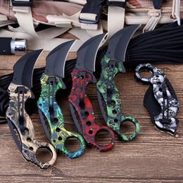 Outils de chasse jungle en Ligne-Haute Qualité Claw 59HRC Scorpion Couteau Jungle Camping Survie En Plein Air Chasse Couteau Poche Pliant Formation Couteau Sauvetage Outils