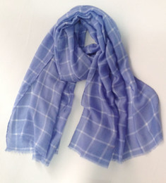 Wholesale Hijab Voile - 2018 Newest Cotton Voile Plaid Pattern Scarf Women Long Grid Fringe Scarves And Shawls Hijab Wrap 2 Color Free Shipping