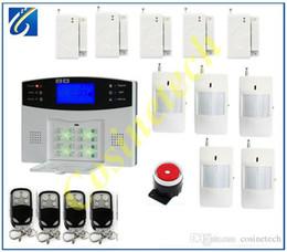 Canada Sysem d'alarme de sécurité à la maison intelligente de sécurité de style classique + 5 capteur de porte + 5 détecteur de PIR, multi-langue pour la sélection automatique-SMS SMS gsm système d'alarme Offre