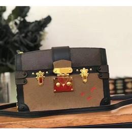 pvc kupplung großhandel Rabatt 2019 Wholesale Designer Box Ursprüngliche petite malle Handtaschen Abendtaschen Leder Mode Box Clutch Brick Messenger Schultertasche 43596