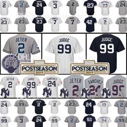 Wholesale Blue Don - Embroidery Mens 99 Aaron Judge 23 Don Mattingly Jersey 24 Gary Sanchez 3 Babe Ruth 7 Mickey Mantle Baseball Jerseys