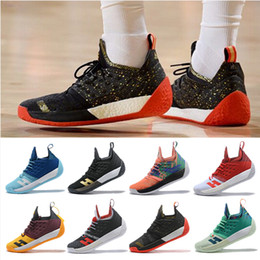 161f5e309787 2019 New James Harden 2 Basketball Shoes Mens Harden 2 Gold Championship  MVP Finals Sports Shoes training Sneakers Running Shoes Size 40-46