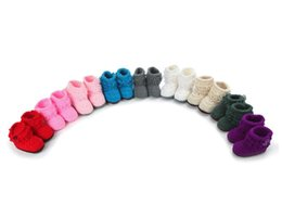 Wholesale Wholesale Cheap Girl Shoes - New style handmade cheap baby shoes newborn Tall canister knitting boots baby boys girls first walkers