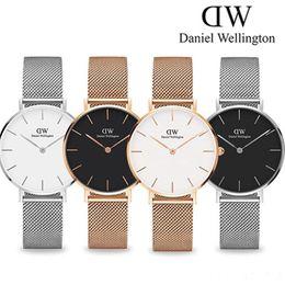 2019 ceramica cielo azul nueva tendencia niñas Barra de acero de 32 mm de Daniel Wellington relojes relojes de las mujeres de lujo del reloj del cuarzo del reloj DW Relogio Femenino Montre Femme