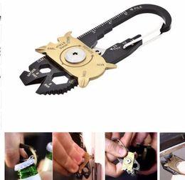 Wholesale Utility Key - EDC Multipurpose mini gadget fixr Multifunctional carabiner multi tool key pocket survive true utility ring camp hike outdoor