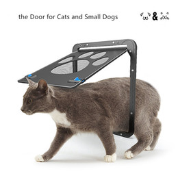 Wholesale pet doors for cats - 2018 Summer Pet Supplies Paw Shape Print Anti-bite Small Doggie Dogs Cat Door for Window Screen Wholesale Free Shipping