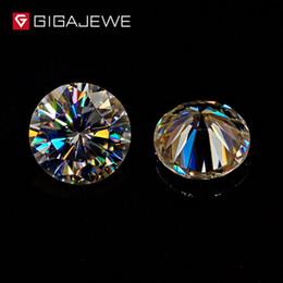 GIGAJEWE Moissanite Yellowish Color 3.5mm-8.2mm Beads Diy gem Stone Moissanite loose stone Hardness stone for Fashion Jewelry