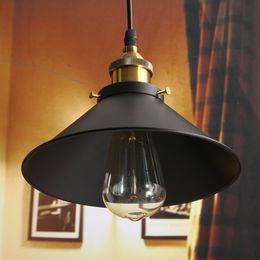 Wholesale design vintage bulbs - Retro Ceiling Light Lamp Round Vintage Industrial Design Iron Vintage Light Deco Bulb Lighting Fixture