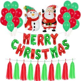 bandiere in alluminio Sconti Decorazioni per la festa di Natale Palloncino di stagnola in alluminio Bandiera Banner Albero di Natale Babbo Natale Palloncini per la festa di Natale a casa