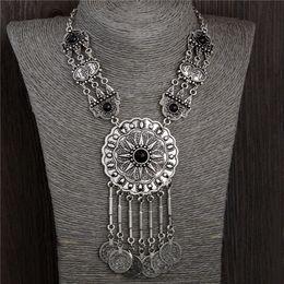 Wholesale Ethnic Tribal Necklace - whole saleQCOOLJLY 2017 New women bohemia necklace&pendants multicolor statement choker necklace tribal ethnic boho jewelry mujer bijoux