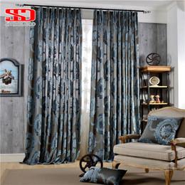 vorhang falten stile Rabatt Europäische Damast Beflockte Jacquard Vorhänge für Wohnzimmer Luxus Vorhänge Fenster Dekoration Klassische Glänzende Samt Schlafzimmer Panel