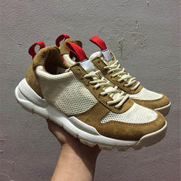 Wholesale Golf Shoes For Women - Tom Sachs x Craft Mars Yard 2.0 TS NASA Running Shoes for men AA2261-100 Natural Sport Red Shoe Zapatillas Vintage With Shoes Box