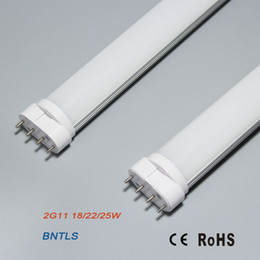 Wholesale Replacement Fluorescent Bulbs - 22W 2G11 LED 4 Pin Tube Lamp NW 4000K 18W fluorescent bulbs replacement
