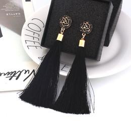 Красные свадебные украшения онлайн-Fashion Charm Crystal Tassel Earrings for Women Girl Wedding Party  Elegant Rhinestone Red Long Earring Jewelry Gift B27
