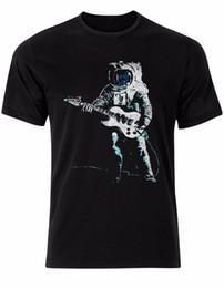 Рок-звезда в Луне астронавт электрогитара музыка бить мужская футболка топ AL86 мужская 2018 модный бренд футболка от