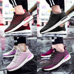 Wholesale Big Shoe Sizes For Women - Big size 35-48 flying fabric Women Running Shoes for Men Breathable Sports Shoe Cushion Sneakers Casual Shoes Trainers Sneakers top quality