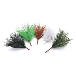 needle tree Coupons - Artificial Pine Needles Xmas Tree Decor Needle Mixed Branchs Christmas Ornament Supplies 10 Pcs lot
