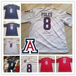 4dfd1727c Custom NCAA Arizona Wildcats  8 Nick Foles 11 K hari Lane 14 Khalil Tate Any  Name Number College Football Jerseys Navy Blue Red White S-4XL