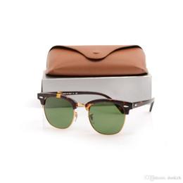 Caja de tortuga online-Hot Club Plank Gafas de sol black Tortoise Frame Gafas de sol Metal bisagras gafas de sol Master para hombre gafas de sol para mujer W0365 With cases box