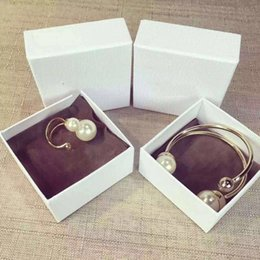 Wholesale Snake Wedding Rings - Double Pearl Open Ring Bracelet for lady Cd BRAND Logo Fashion Design Women Party Wedding Brooches D-logo Luxury Imitation Jewelry.