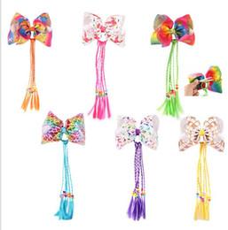 Parrucche di compleanno online-Bambini Unicorn Party Tornante Con Parrucca Capelli Decor FAI DA TE Decorazione Festa Di Compleanno Felice tornante capelli twist parrucche KKA5668