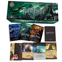 Wholesale movie trades - 408 PCS SET Harry Potter Movie poker Cards Game Funny Board Game English Edition Collection Cards game For Children Gift toys