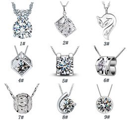 Wholesale Heart Ornaments Wholesale - 925 sterling silver jewelry fashion Magic Cube with silver pendant necklace item ornaments wholesale belief Valentine's Day to send his