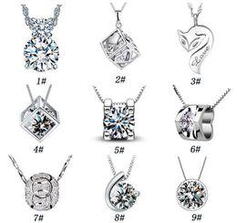 925 bijoux en argent sterling mode Magic Cube avec pendentif en argent collier ornements item gros croyance Saint-Valentin pour envoyer son ? partir de fabricateur