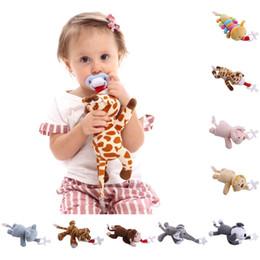 boné preto laranja Desconto 2018 Baby Boy Girl Manequim Chupeta Cadeia Clipe Plush Animal Brinquedos Chupeta Mamilos Titular # K4UE # Gota