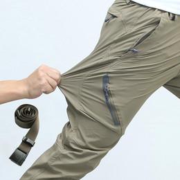 Wholesale Gray Tactical Pants - 2018 Spring and Summer Elastic Waterproof Men Pants Men's Active Trousers Male Sweatpants Slim Tactical Pants 8XL