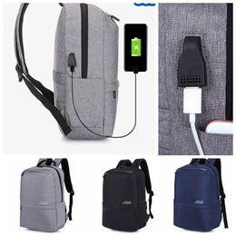 Wholesale Casual Fashion For Teenage Girls - Casual Women Backpack USB Backpack 16 inch laptop Backpacks For Teenage Girls Gift anti-theft schoolbag LJJK924