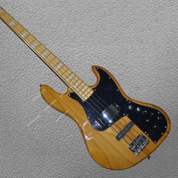 Elétrico, jazz, baixo, corda on-line-JAZZ BASS guitarra Elétrica 4 cordas Frete grátis alta qualidade elm corpo de madeira Processamento personalizado