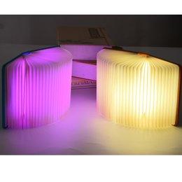 Dobrável Criativo Páginas Dobráveis Levou Livro Forma Night Light Lâmpada de Iluminação Portátil Booklight Usb Recarregável Mesa Livro Luz de Fornecedores de luz dobrada do livro conduzido
