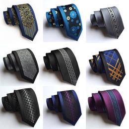 gravata de seda de 6 cm Desconto Nova Chegada de Seda Magro Dos Homens Laços Moda 6 cm Skinny Stripe Dot floral gravata para homens tecido Formal desgaste festa de casamento de negócios