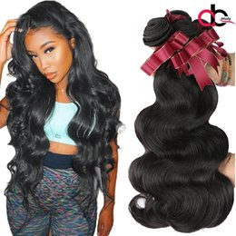 Wholesale Cheap 28 Inch Hair - Mink Brazilian Body Wave Hair 3 Bundles Unprocessed Brazilain Virgin Hair Body Wave Cheap Peruvian Malaysian Indain Human Hair Extensions