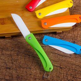 Chine Ceram Céramique Pliable Couteau Cadeau Couteaux De Poche En Céramique Pliant Couteaux Cuisine Fruits Légumes Paring Parer avec ABS Coloré Poignée ? partir de fabricateur