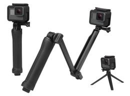 Trípode impermeable online-Monopie impermeable para empuñadura de 3 vías para GoPro Hero 5 6 4 Sesión SJ4000 Xiaomi Yi 4K Cámara Go Pro Selfie Stick con trípode