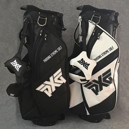vendita calda sacca da golf sacche da golf borsa 4 fori viaggio completo set colore bianco o nero Stand Rack ferri da stiro putter driver fairway da