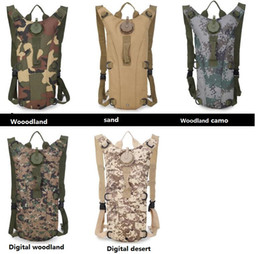 Wholesale Camo Pouch - Portable Hydration Packs Camo Tactical Bike Bicycle Camel Water Bladder Bag Assault Backpack Camping Hiking Pouch Water Bag