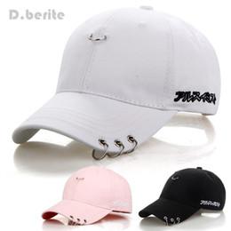 Wholesale Popping Snapback - Mens Snapback Hats BTS Jimin Fashion K Pop Iron Ring Hats Adjustable Baseball Cap GPD8216