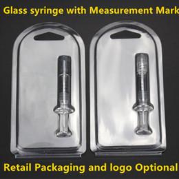 fuga de aceite Rebajas No hay fugas Luer Lock Pyrex Glass jeringa punta inyector cabeza 1ML con marca de medición y embalaje al por menor para el tanque de cartuchos de aceite de Co2 gruesa