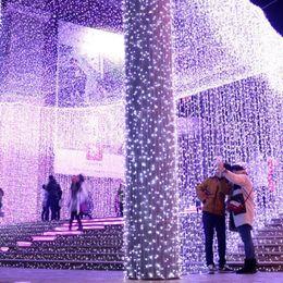Lumières pour le mariage en Ligne-Goutte Multifonctionnelle Ornements De Noël Décor 10m Led Éclairage Imperméable À L'eau Romantique Mariage String Guirlandes