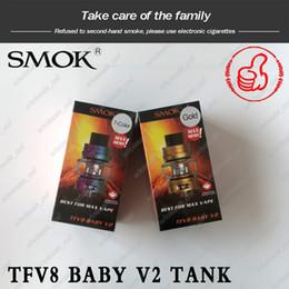 a1 spulen Rabatt 100% original smok tfv8 baby v2 tank 5 ml birne pyrex glas zerstäuber mit a1 a2 dual mesh spule für 510 gewinde mod smoktech