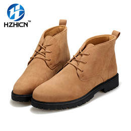 Wholesale thigh for men - HZHICN Lace Up Thigh High Ankle Men Boots Fashion Shoes New Chelsea Boots For Men Casual Shoes Botines Hombre Size 39-44
