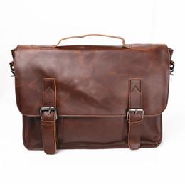 Wholesale Canvas Computer Messenger Bags - New Men Women Casual Briefcase Business Shoulder Bag Leather Messenger Bags 14 inch Computer Laptop Handbag Men's Travel Bags