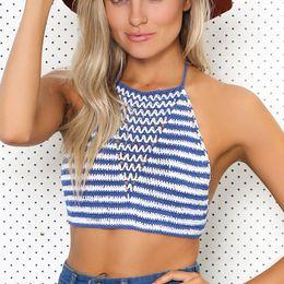 323cd809d6 2018 New Women Vintage Summer Sexy Bandage Lace Up Crochet Bikini Swimwear  Knitted Top
