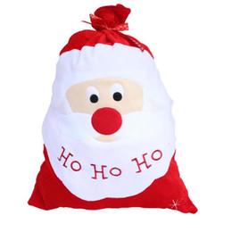 sac de sacs gros Promotion Décoration de Noël Grand sac de Noël Stocking Sacs cadeaux grand pour la fête à la maison Nouvel An Décoration 10Pcs