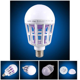 Wholesale Gardening Pests - 2 in 1 LED Bulb Mosquito Killer Lamp E27 15W Pest Control Light Bulb ALI88